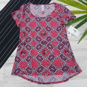 {Lularoe} Classic Tee Minnie Mouse Disney Pink Red